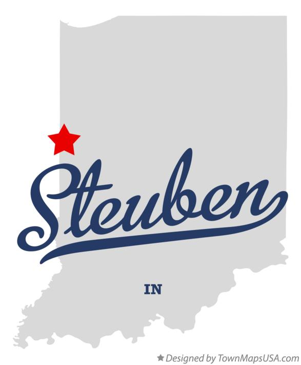Map of Steuben Indiana IN