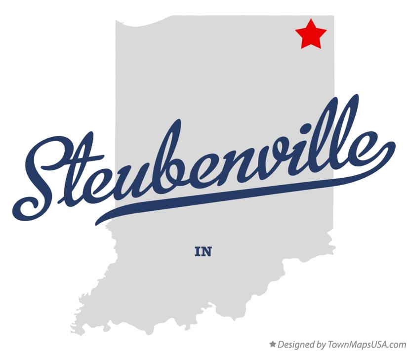 Map of Steubenville Indiana IN