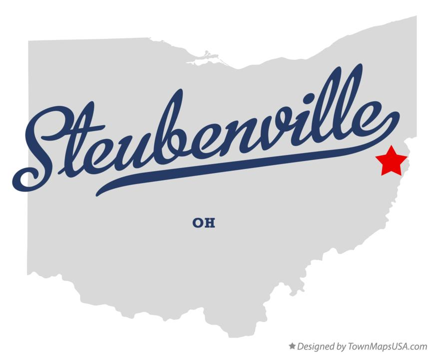 Map of Steubenville Ohio OH