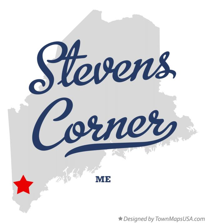 Map of Stevens Corner Maine ME