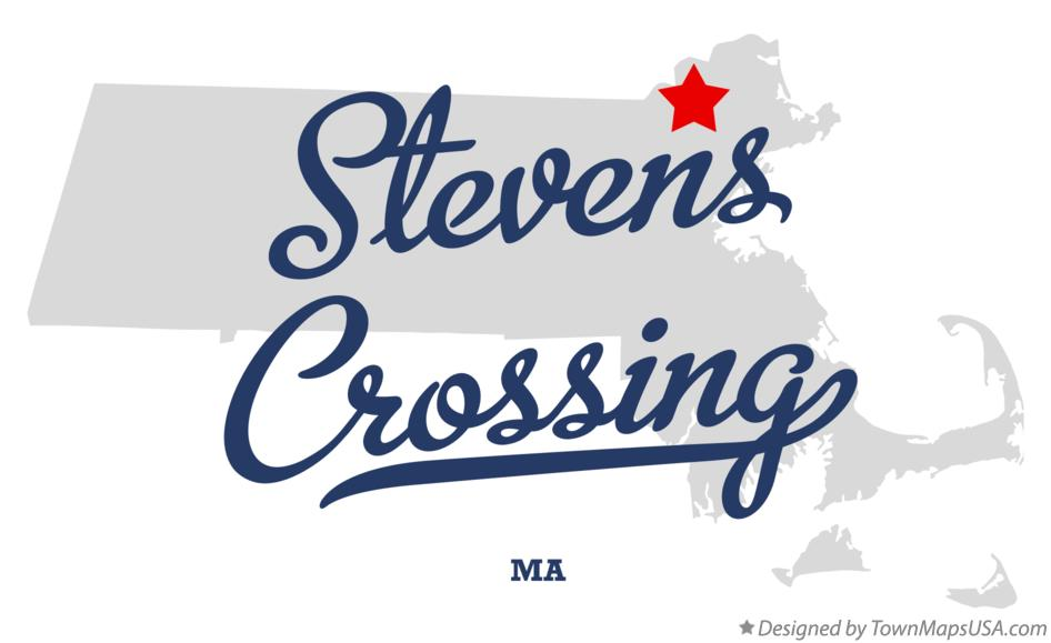 Map of Stevens Crossing Massachusetts MA