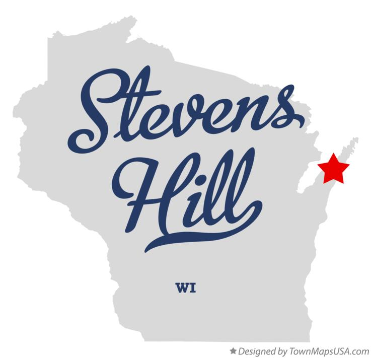 Map of Stevens Hill Wisconsin WI