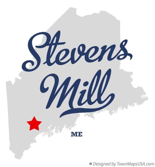Map of Stevens Mill Maine ME