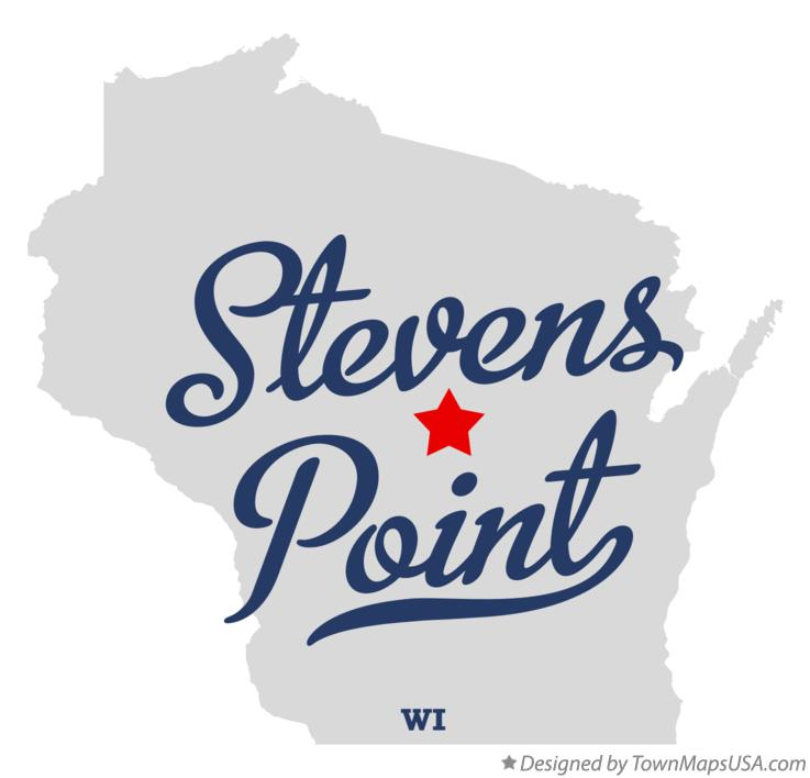 Map of Stevens Point Wisconsin WI