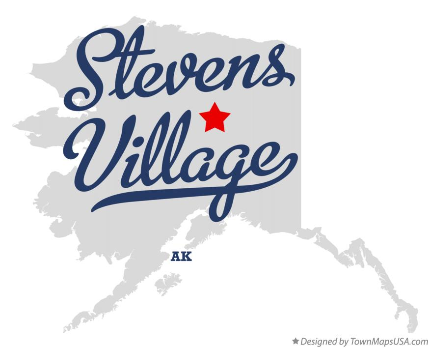 Map of Stevens Village Alaska AK