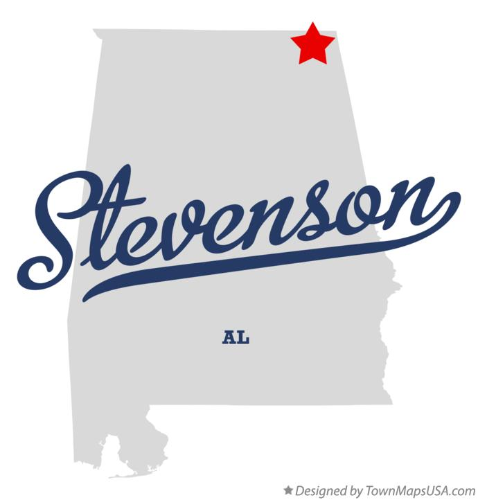 Map of Stevenson Alabama AL