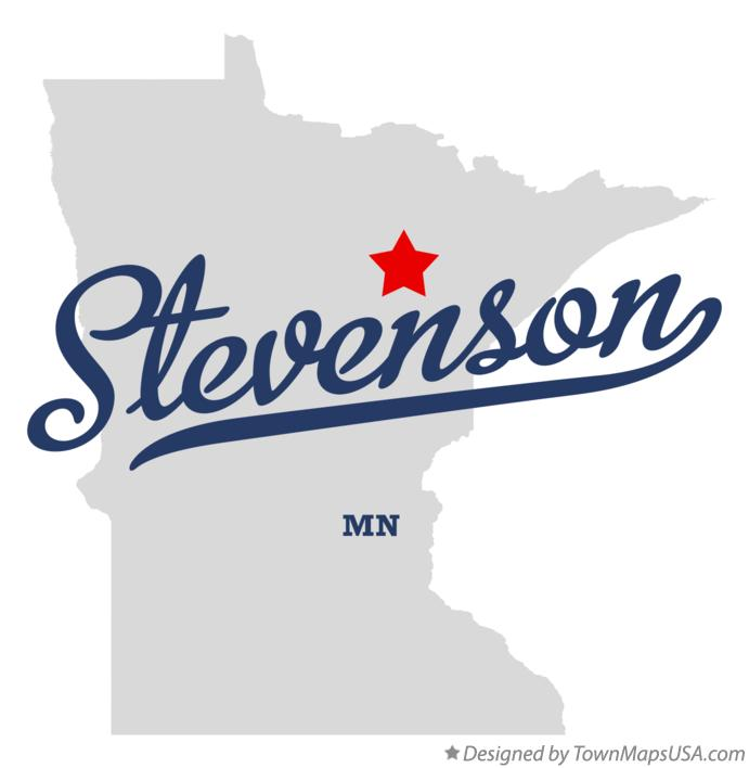 Map of Stevenson Minnesota MN