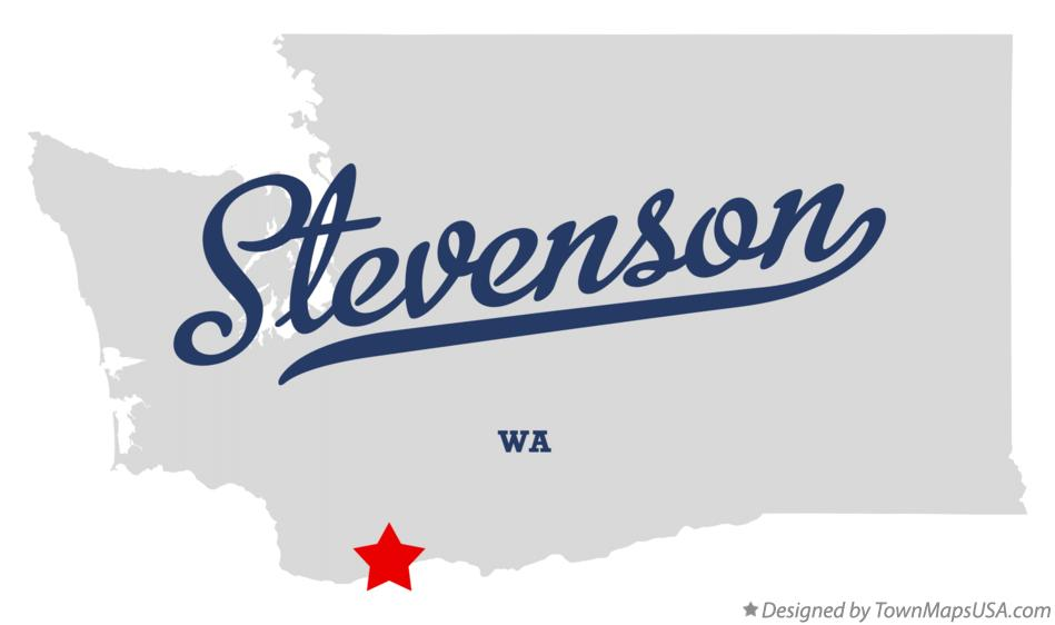 Map of Stevenson Washington WA