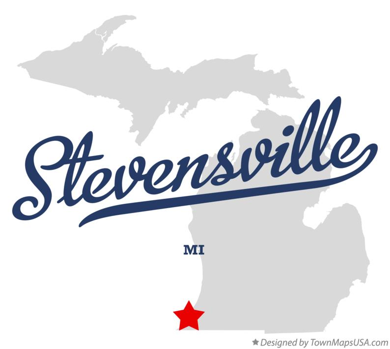 Map of Stevensville Michigan MI