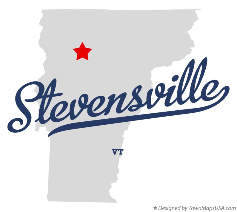 Map of Stevensville Vermont VT