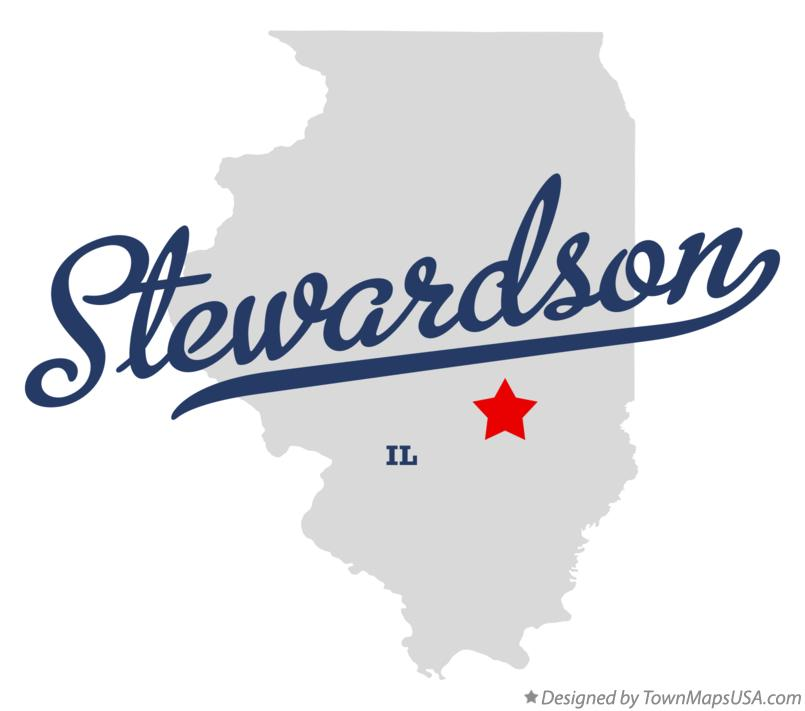 Map of Stewardson Illinois IL