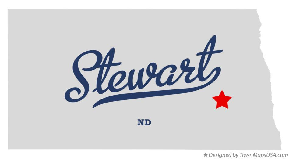Map of Stewart North Dakota ND