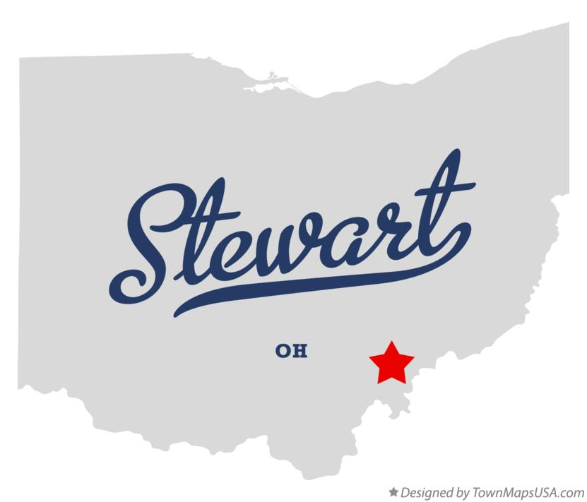 Map of Stewart Ohio OH