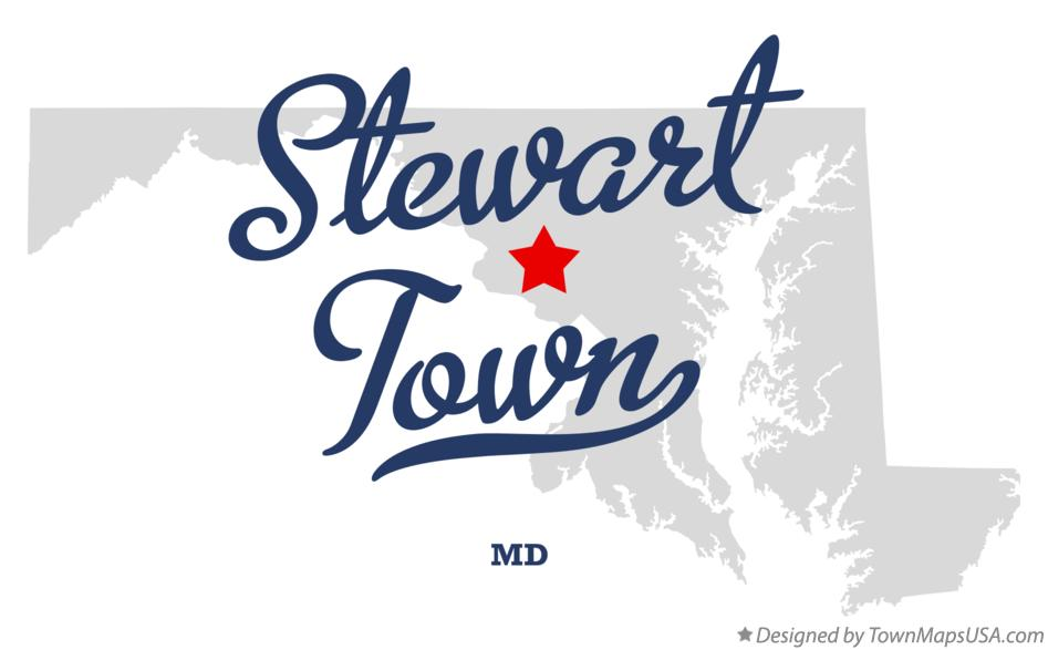 Map of Stewart Town Maryland MD