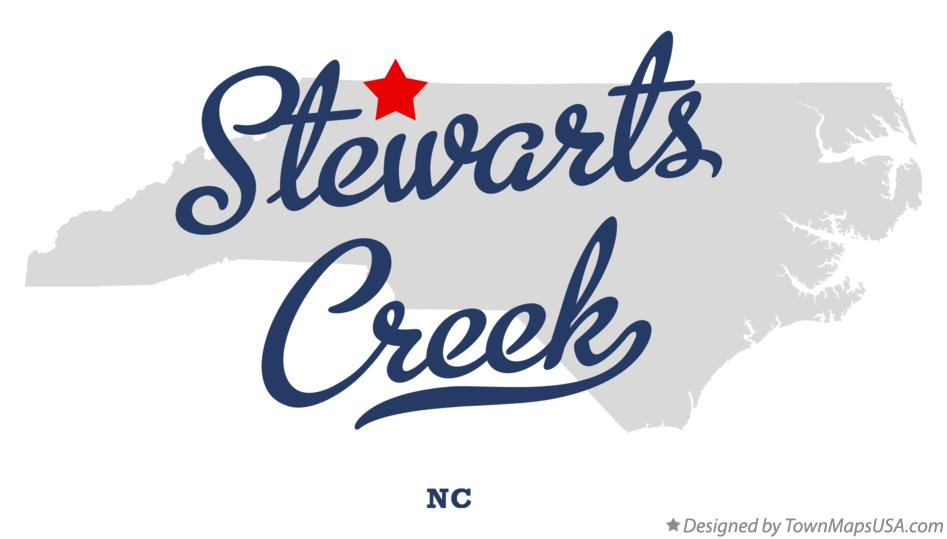 Map of Stewarts Creek North Carolina NC