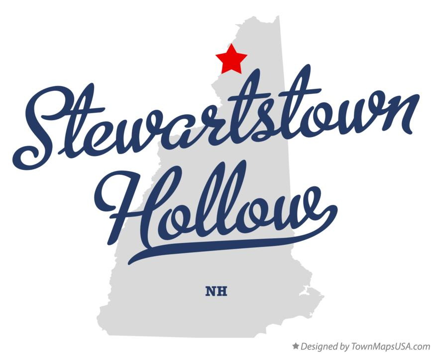 Map of Stewartstown Hollow New Hampshire NH