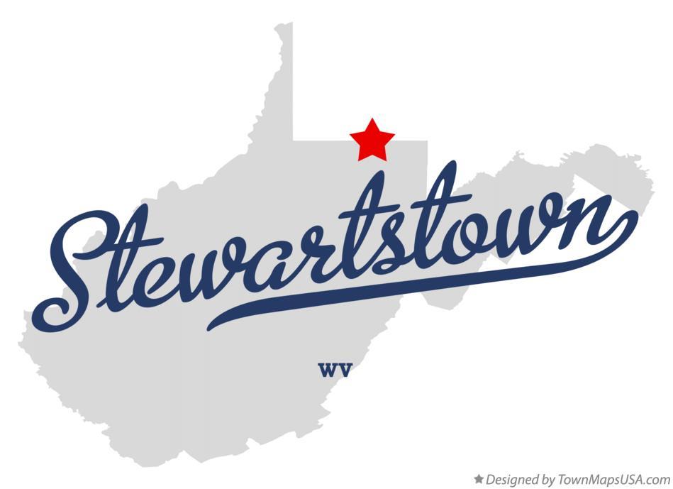 Map of Stewartstown West Virginia WV