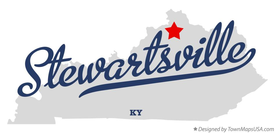 Map of Stewartsville Kentucky KY