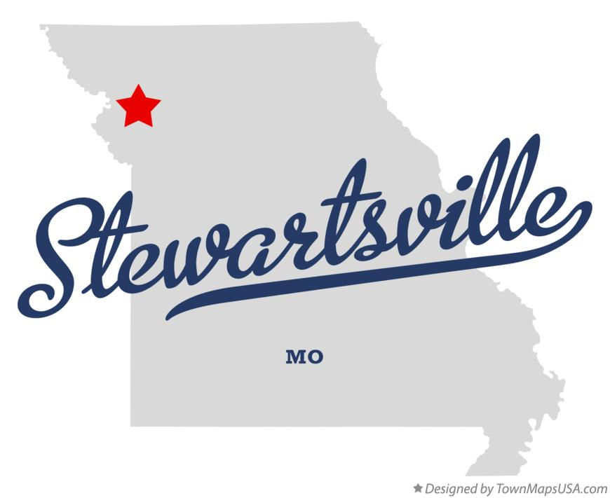 Map of Stewartsville Missouri MO