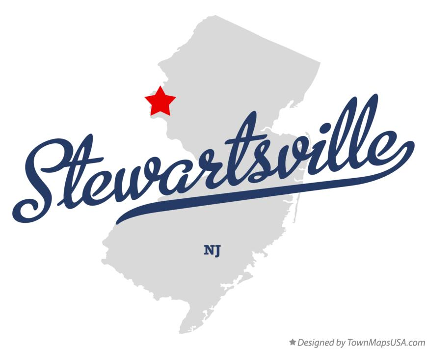 Map of Stewartsville New Jersey NJ