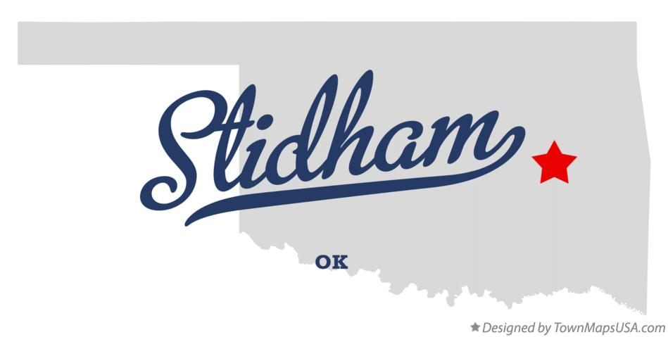Map of Stidham Oklahoma OK