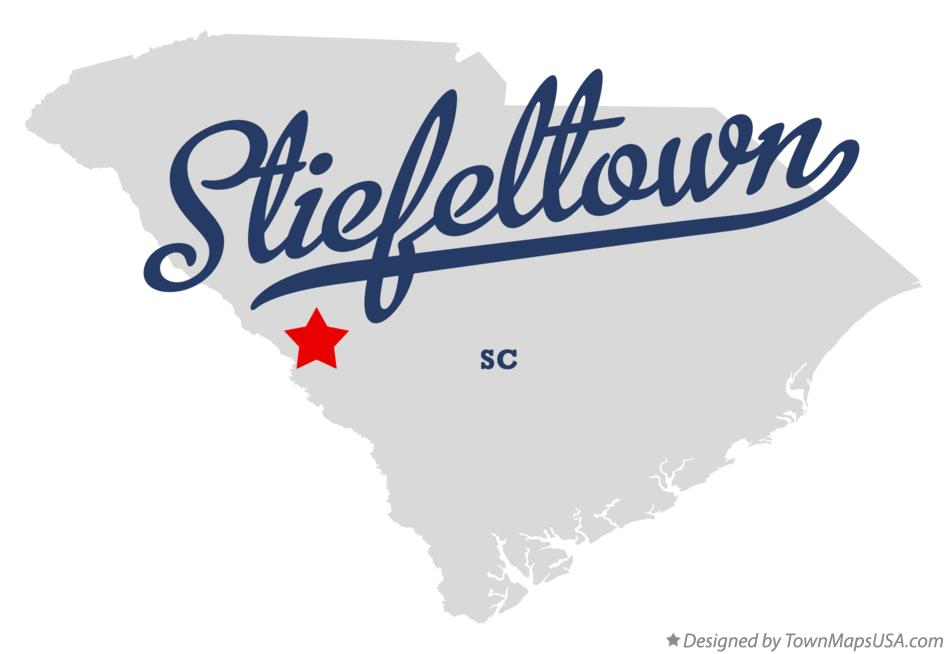 Map of Stiefeltown South Carolina SC