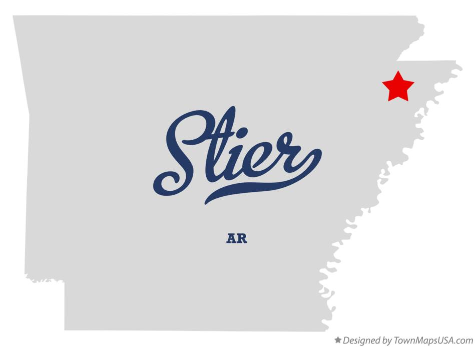 Map of Stier Arkansas AR