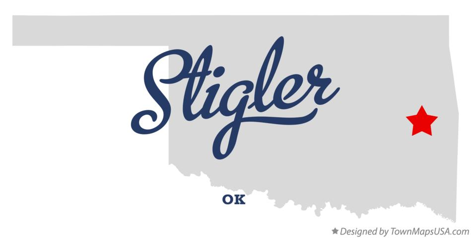 Map of Stigler Oklahoma OK