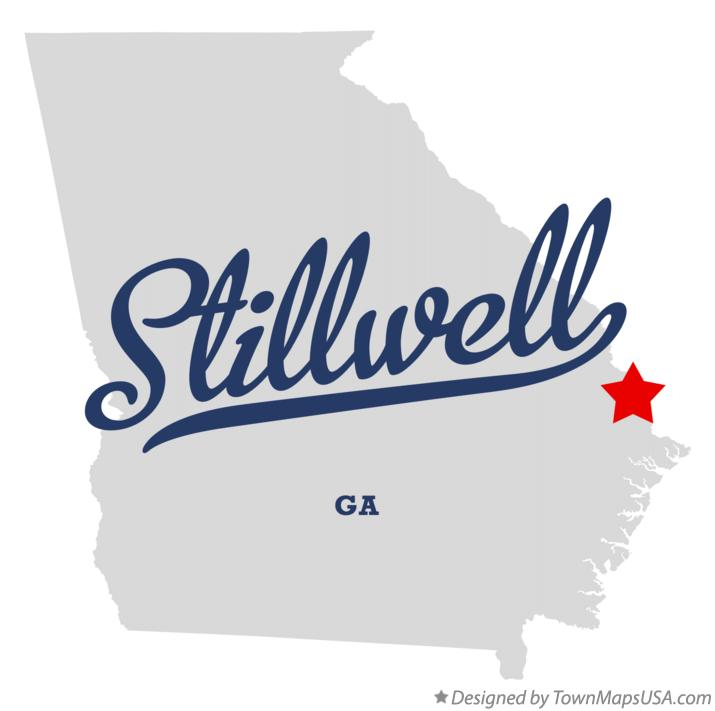 Map of Stillwell Georgia GA
