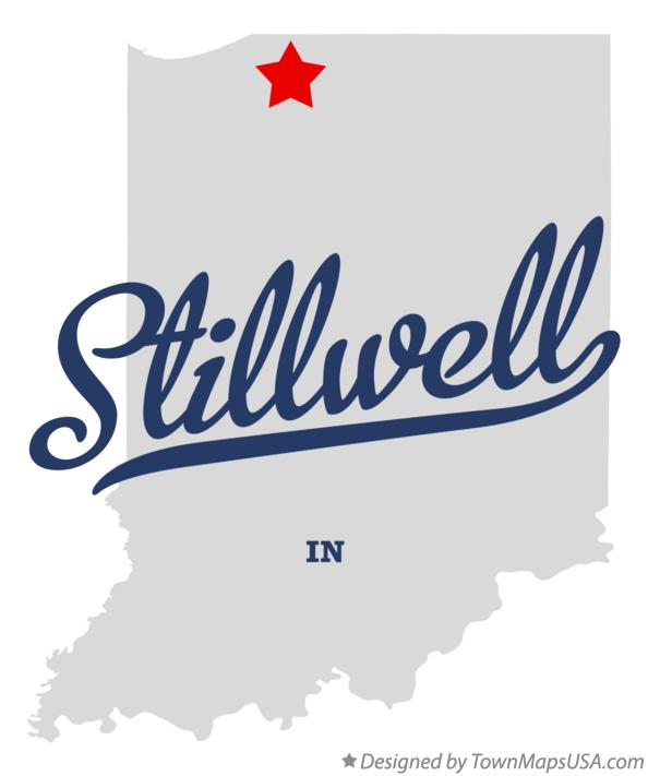 Map of Stillwell Indiana IN