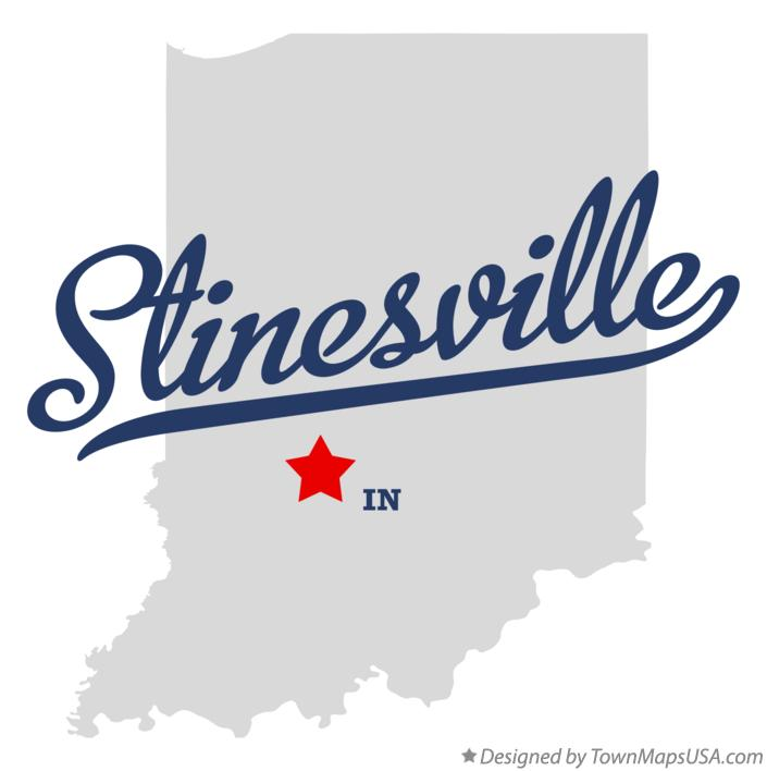 Map of Stinesville Indiana IN