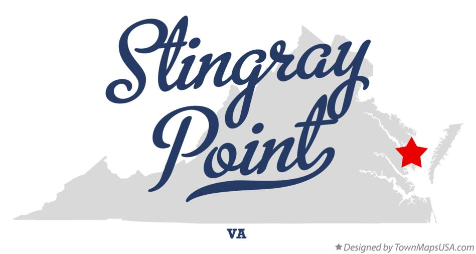 Map of Stingray Point Virginia VA