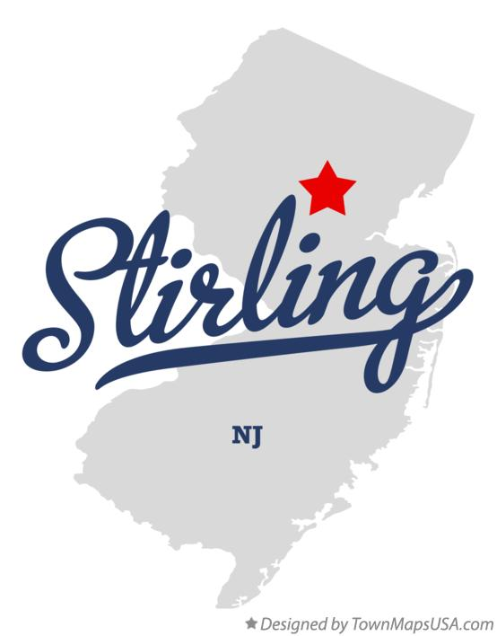 Map of Stirling New Jersey NJ