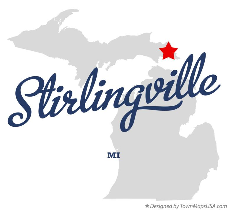Map of Stirlingville Michigan MI