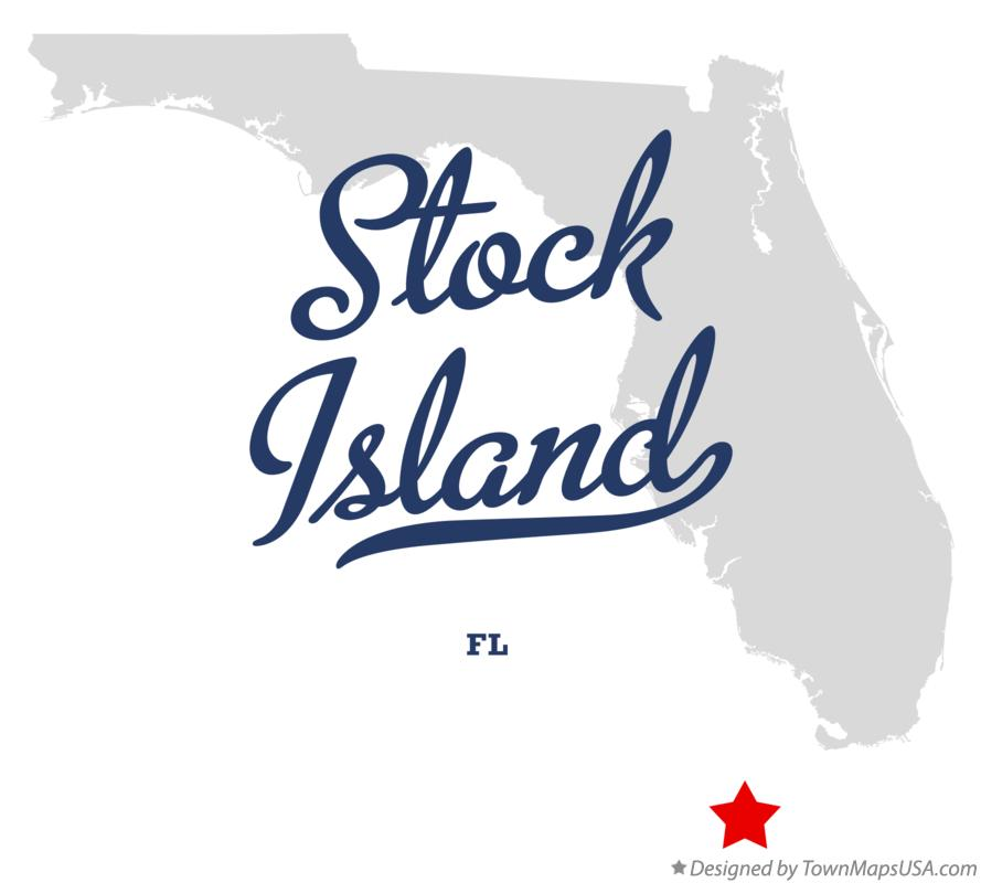Map of Stock Island Florida FL