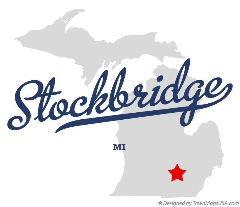 Map of Stockbridge Michigan MI