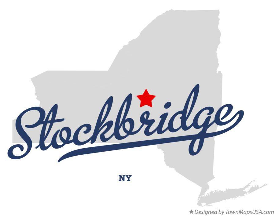 Map of Stockbridge New York NY