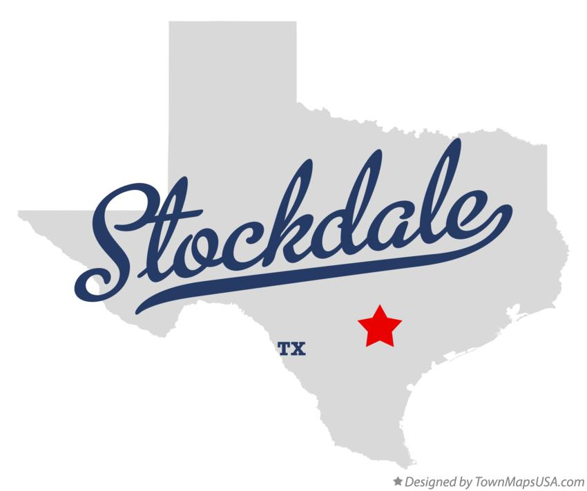 Map of Stockdale Texas TX