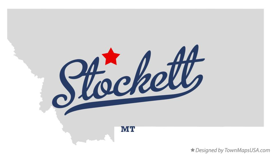 Map of Stockett Montana MT