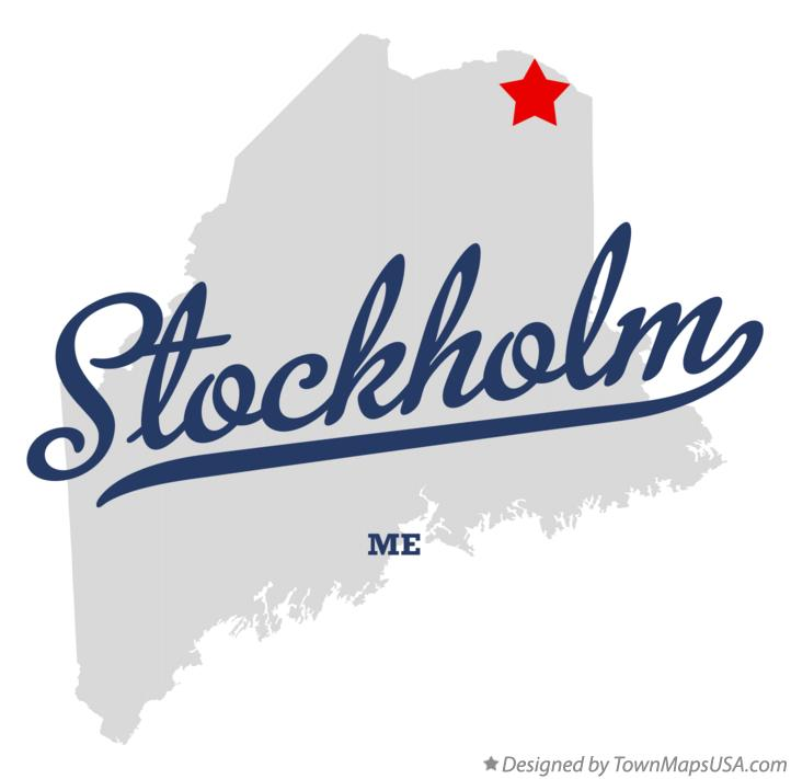 Map of Stockholm Maine ME