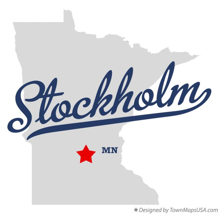 Map of Stockholm Minnesota MN
