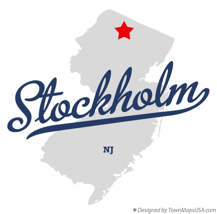 Map of Stockholm New Jersey NJ