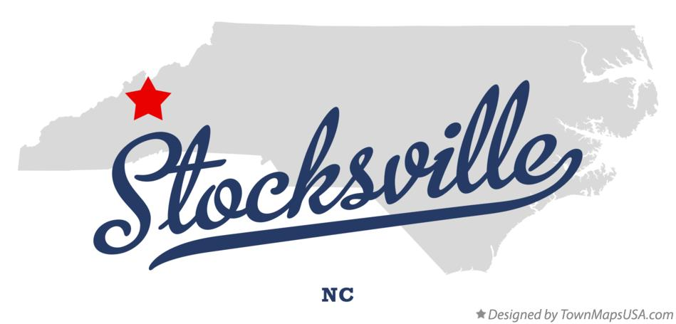 Map of Stocksville North Carolina NC