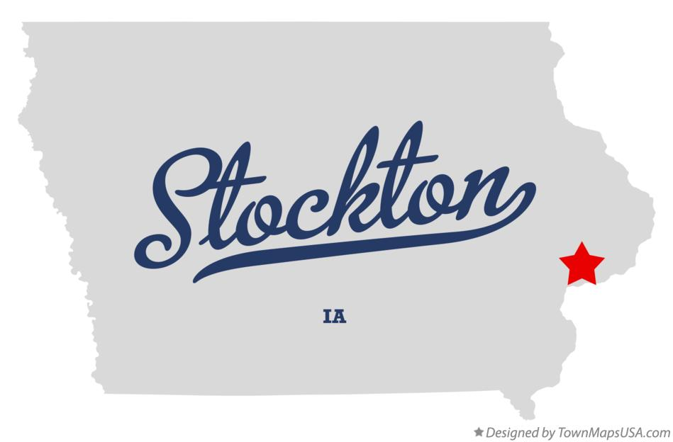 Map of Stockton Iowa IA