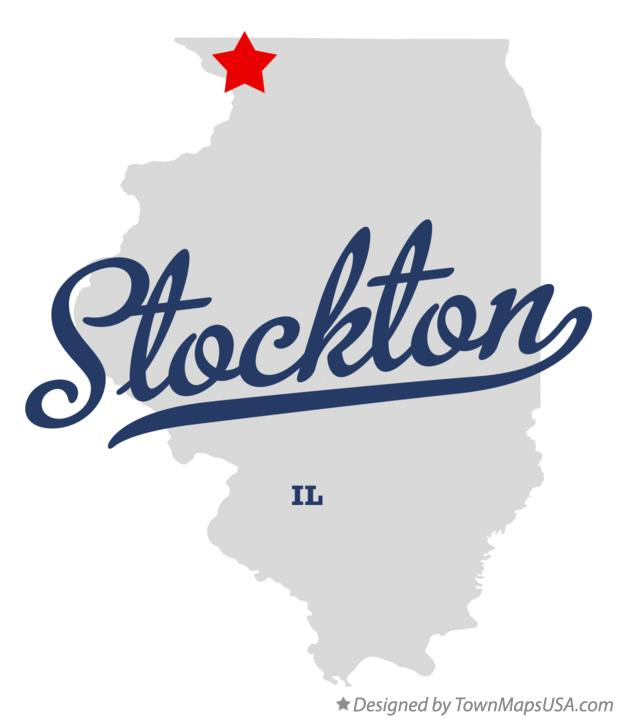 Map of Stockton Illinois IL