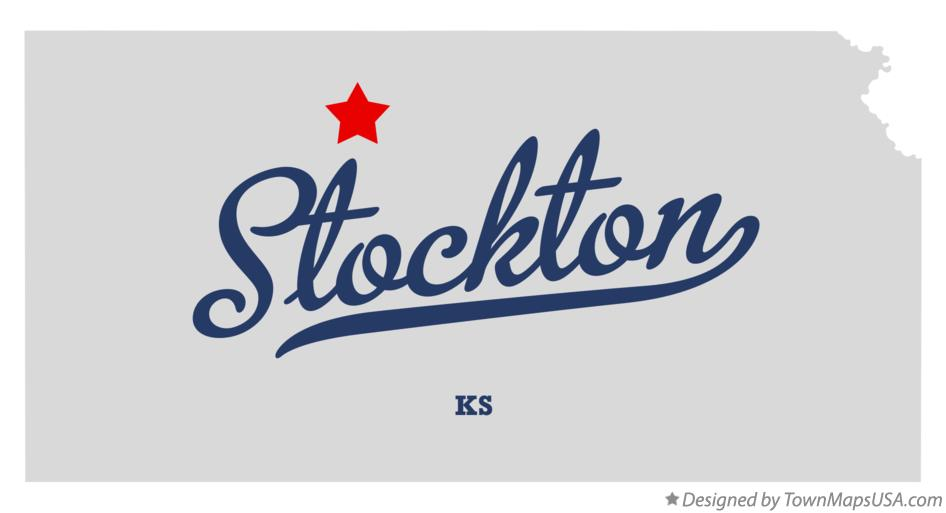 Map of Stockton Kansas KS