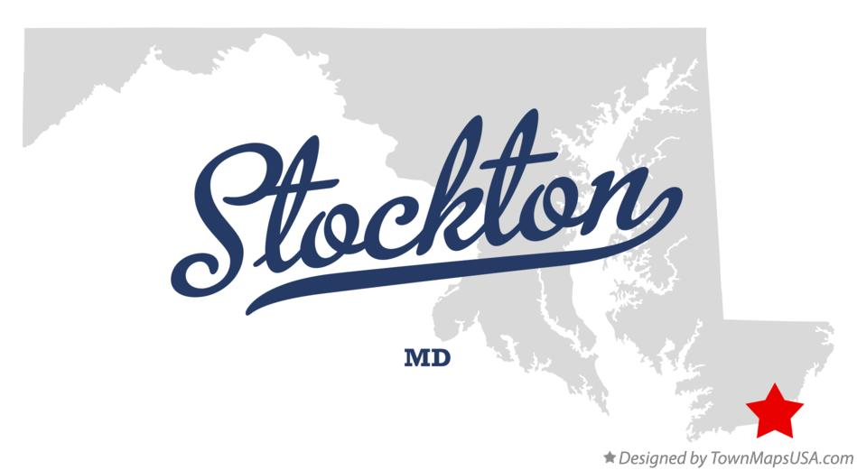 Map of Stockton Maryland MD
