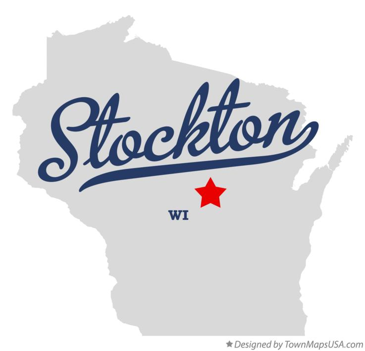Map of Stockton Wisconsin WI