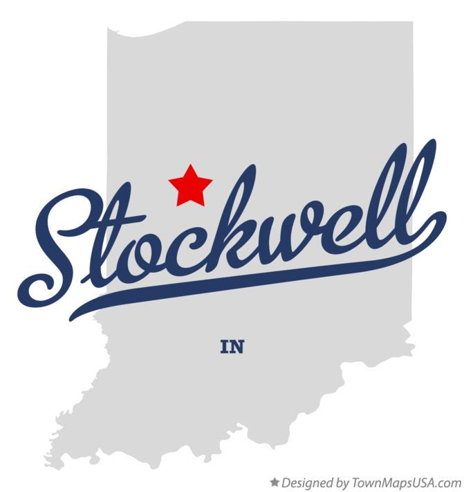 Map of Stockwell Indiana IN