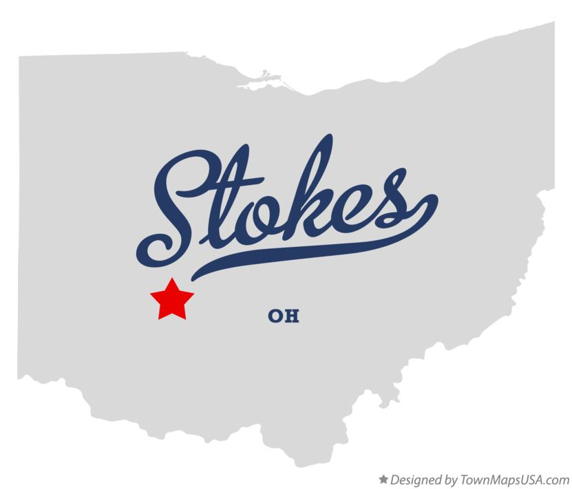 Map of Stokes Ohio OH